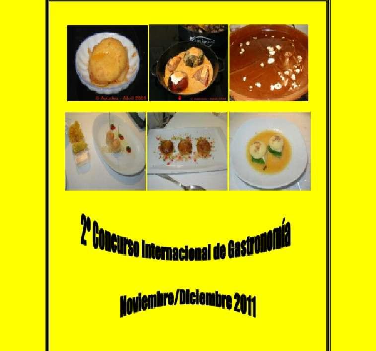 Receario: Recopilación de recetas del II Concurso Internacional de Gastronomía