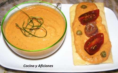 Pate o dip de tomate natural y ventresca