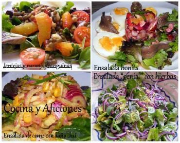 Las doce primeras  ensaladas de 2012, recetas