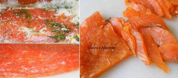 pasos del salmón marinado 1