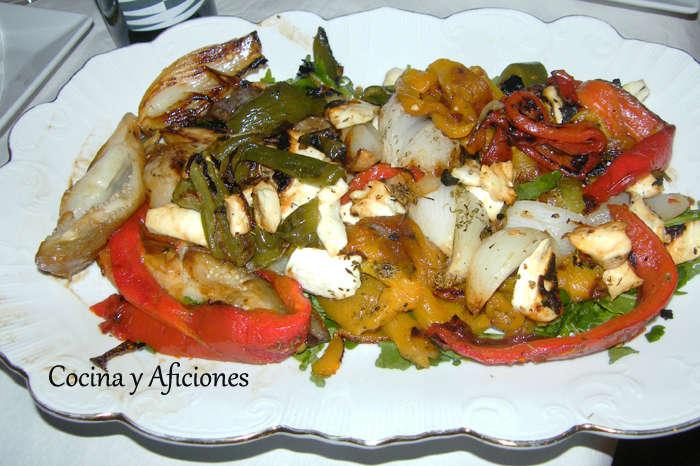 Vegetales asados al rescoldo, receta paso a paso
