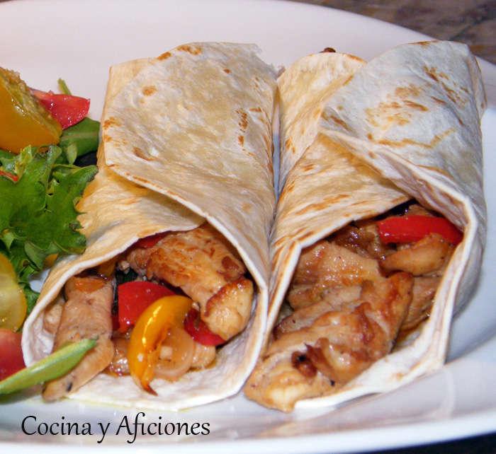 Fajitas de pollo al estilo de mi amiga Leona, receta mexicana