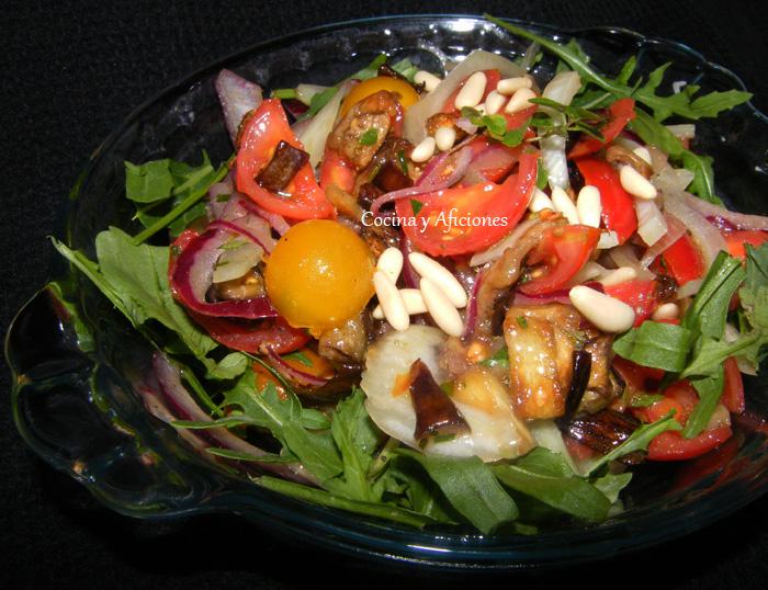ensalada con berenjena e hinojo 2