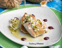 Ventresca de bonito, vinagreta de coco y su compota, receta de Arzak