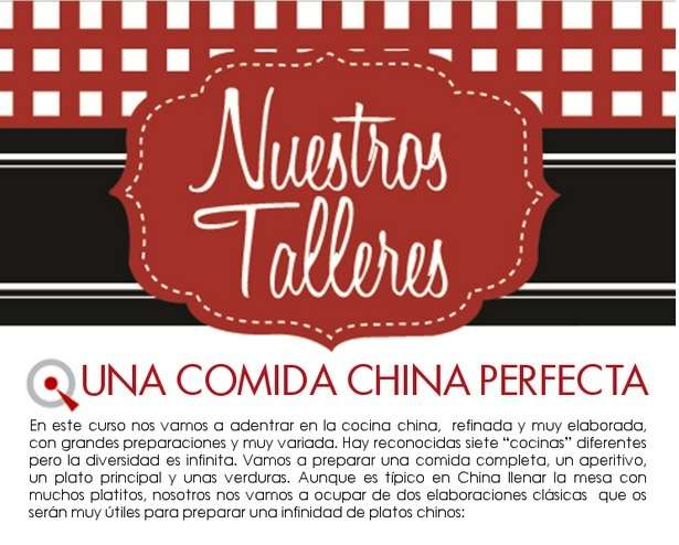 Taller: una comida china perfecta.