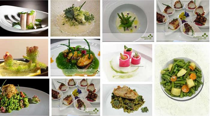platos con verduras del desierto