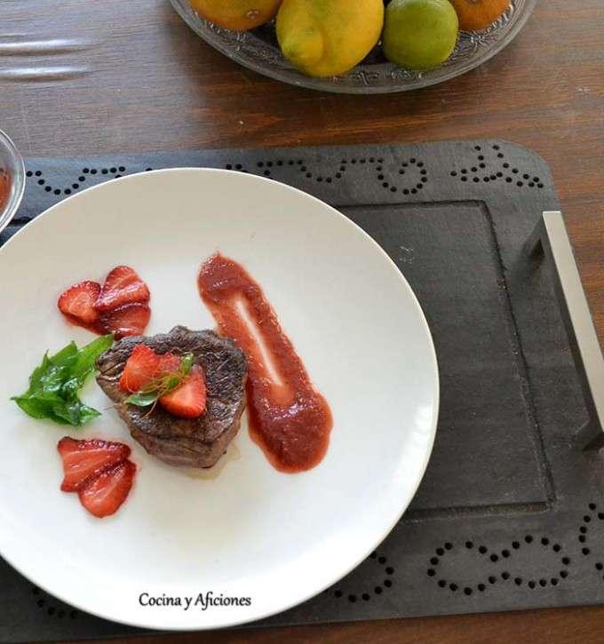 Solomillo salsa de fresa 5