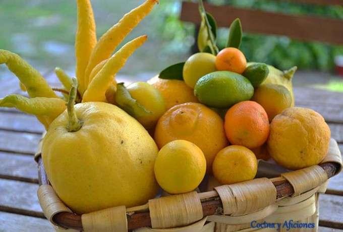 cesto de citricos