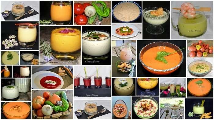Gazpachos, cremas, sopas frías, tzatziki,…. todas las recetas de Cocina y Aficiones, paso a paso.
