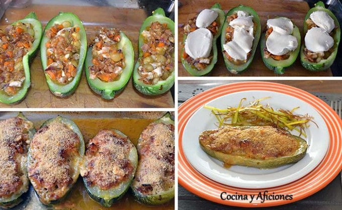 Collage de calabacin relleno