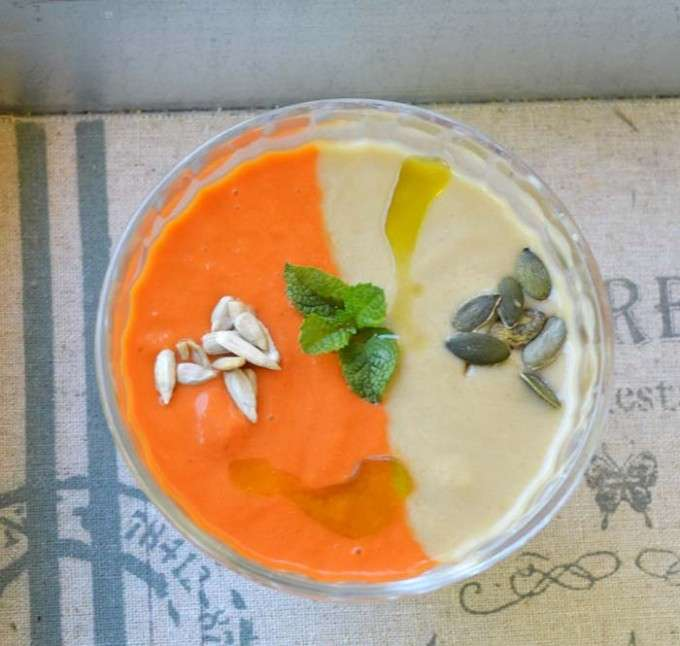 Sopa fria bicolor 5