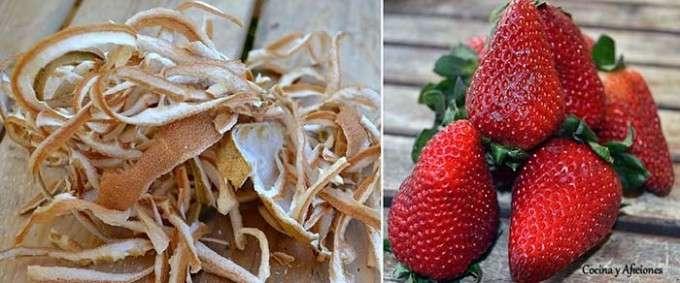 fresas y bergamota