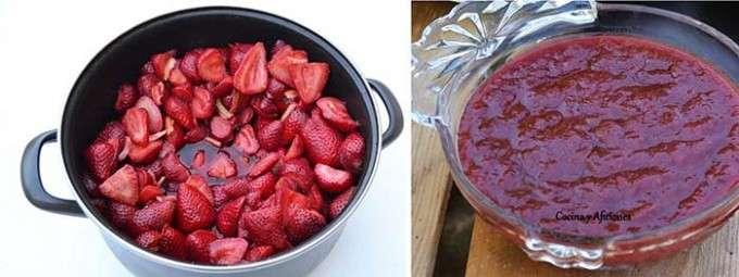 fresas y mermelada