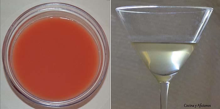 agua de romate translucida y rosa