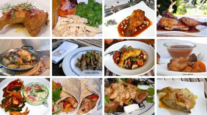 Pollo, doce recetas super faciles y rapidas paso a paso.