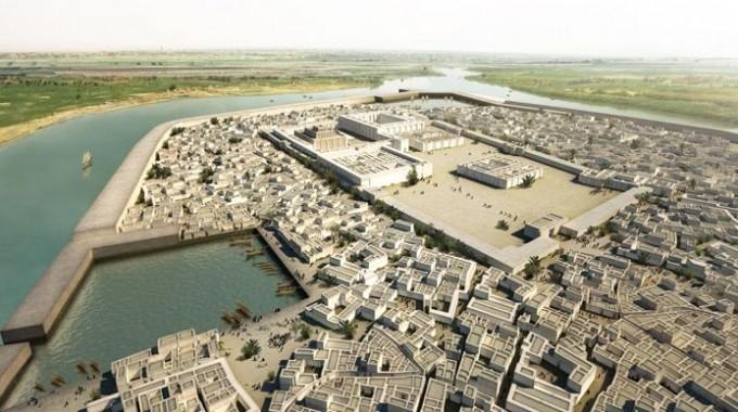 Reconstruccion virtual de la ciudad de Ur finales III milenio a.C.