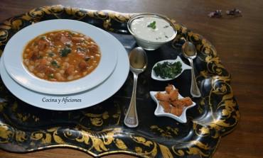Sopa de alubias blancas al estilo Mediterráneo, receta paso a paso.
