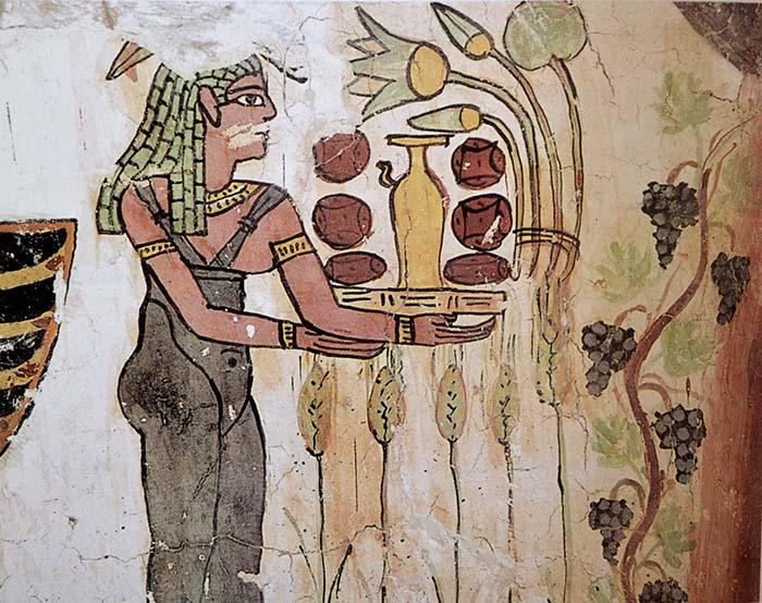El origen y la evolución de la comida y de la forma de comer: Egipto, apuntes.