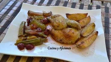Pollito picanton verdulero, receta paso a paso.