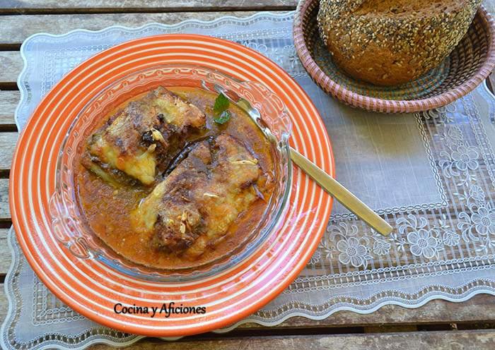 Berenjenas y calabacines rellenos con un toque de ajo negro, receta paso a paso.