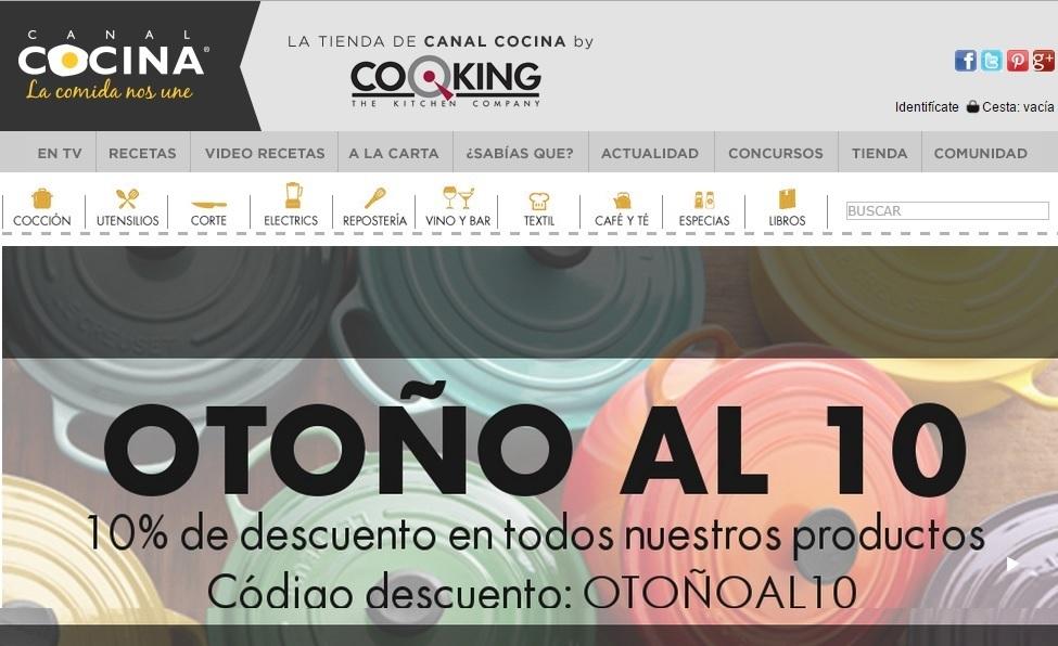 Cooking y Canal Cocina, una unión de lo mas provechosa.
