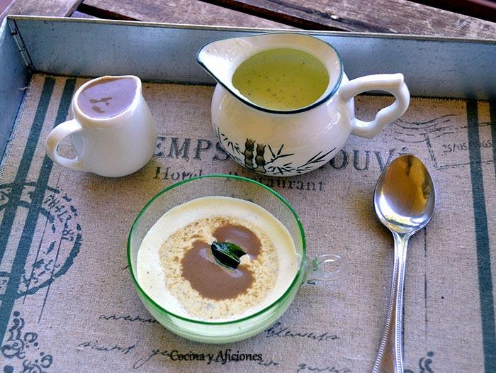 Aperitivo de lassi (yogur fresco) y lentejas, receta súper fácil pasó a paso.