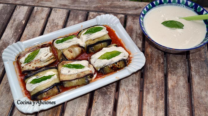 Raviolis de pato y berenjena, receta paso a paso.
