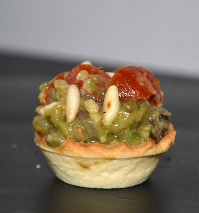aperitivo aguacate - pico de gayo tartaleta