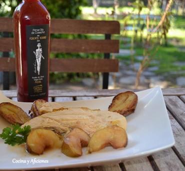 """Pollo asado con manzanas y AOVE picual  """"Primer Día de Cosecha"""" del Castillo de Canena receta paso a paso."""