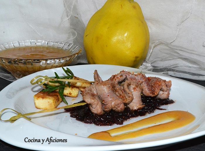 "Solomillo (aiguillettes) de pato con salsa de membrillo, receta pasa a paso para el concurso ""SuperChef navideño"""