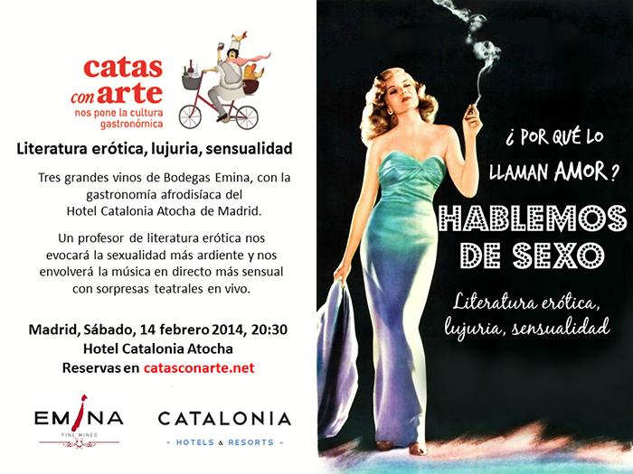 Cartel Cata con arte Madrid.Febrero 2015