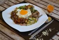 Bibimbap coreano, receta paso a paso para Cocinas del Mundo.