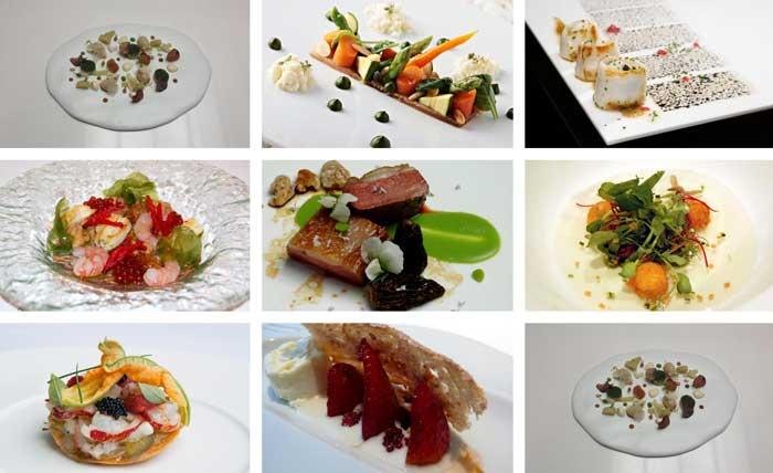 Emplatados de grandes chefs