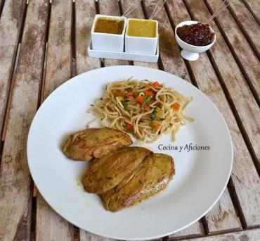 Solomillo ibérico marinado al estilo oriental, receta paso a paso.