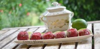 Fresas rellenas de fresas y tequila, receta paso a paso.