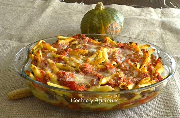 Macarrones con verduras a la corinne receta paso a paso - Macarrones con verduras al horno ...