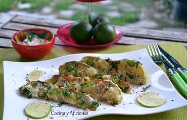 Calabaza asada con lima, chile verde y especias, receta paso a paso.