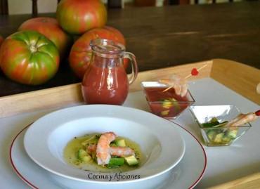 Gazpacho a la mexicana, receta paso a paso.
