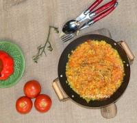 Arroz  con pollo y salsa de tomate, receta paso a paso