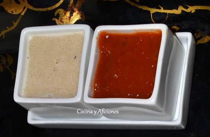 Salsa agristada y salsa de tomate