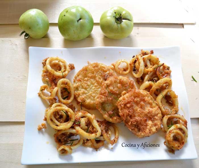calamares-cajun-y-tomates-verdes-fritos