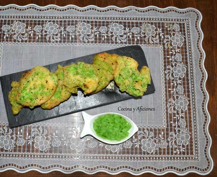 tortitas con arroz verde