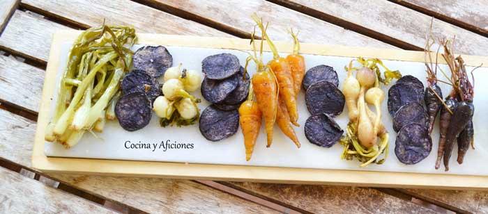 Mini-verduras-confitadas-con-aceite-de-perejil