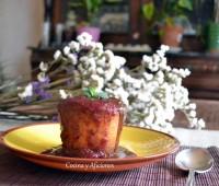 Bizcochitos de turrón de Jijona con culis de fresa y chocococo, receta paso a paso.