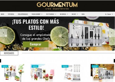 """Nuevas experiencias gastronómicas en la web """"Gourmentum """"."""