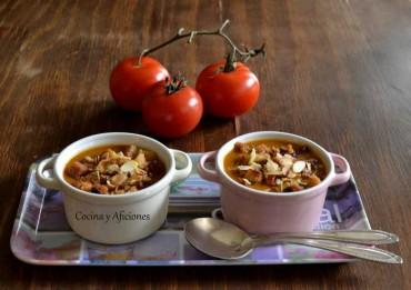 Sopa de tomate ahumada, receta paso a paso.