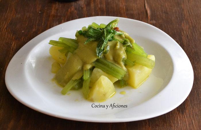Borraja patata y crema de jud as verdes receta paso a for Cocinar judias verdes
