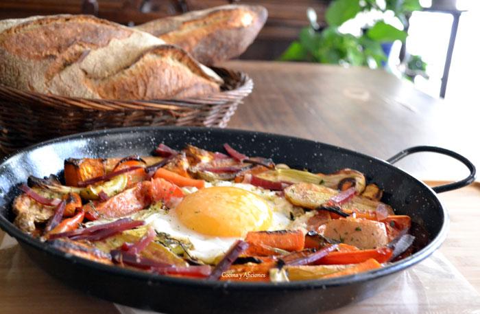 Huevo-de-oca-en-paella-con-verduras-asadas-17