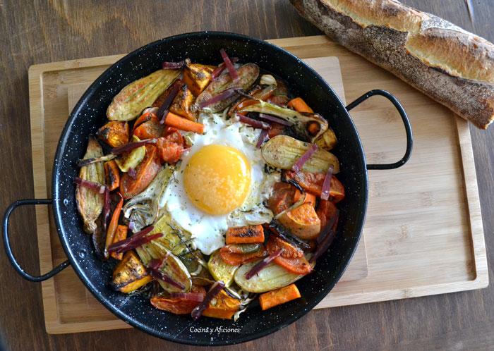 Huevo-de-oca-en-paella-con-verduras-asadas-6
