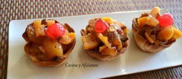 "Mini tarta de manzana exprés para ""En dos cocinas: Menú de invierno"""